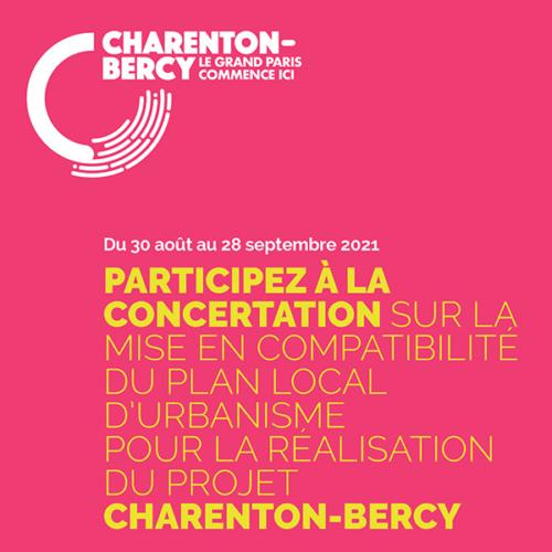 Participez à la concertation sur la mise en conformité du Plan Local d'Urbanisme Charenton-Bercy
